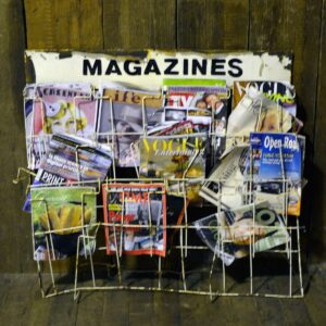 Old Magazine Stand with Magazines