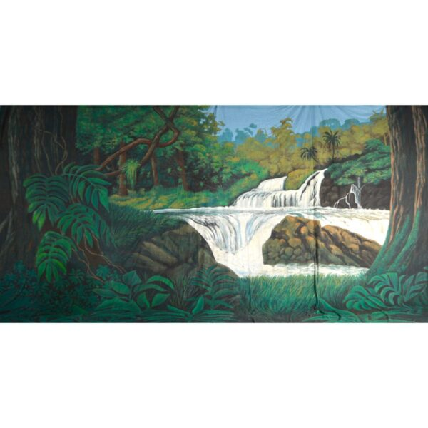 Tropical Jungle Waterfall Painted Backdrop BD-0087