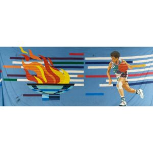Olympic Basketball Painted Backdrop BD-0322