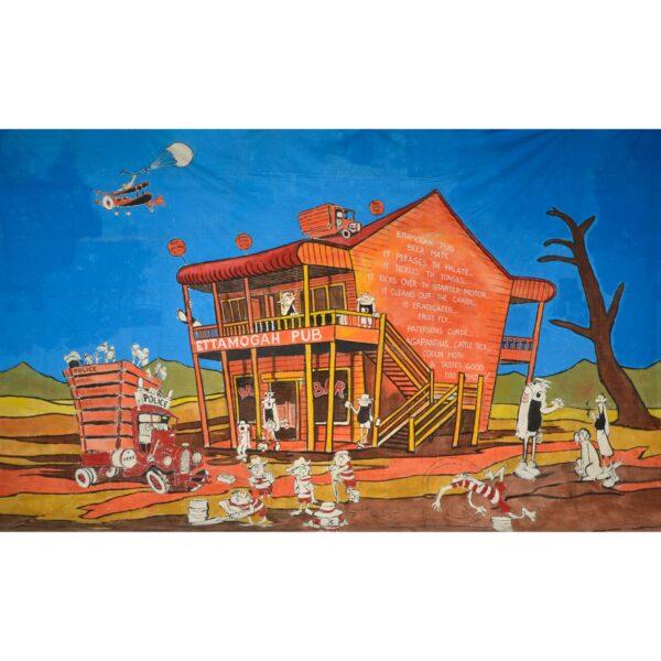 Ettamogah Pub Painted Backdrop BD-0915