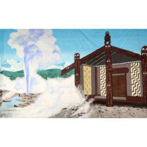 Maori Temple Hot Springs Painted Backdrop BD-0953