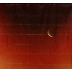 Moon in Red Sky Painted Backdrop BD-1019