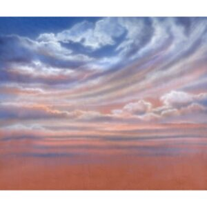 Sunset Pink and Blue Painted Backdrop BD-1022
