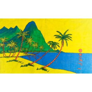 Caribbean Island Painted Backdrop BD-1032