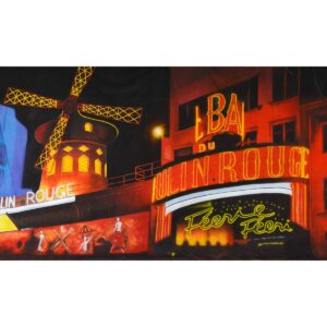 Moulin Rouge Windmill Painted Backdrop BD-1038