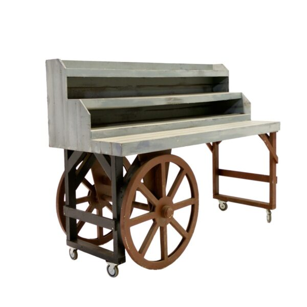 Cart 15 - 3 Tiered Rustic Cart