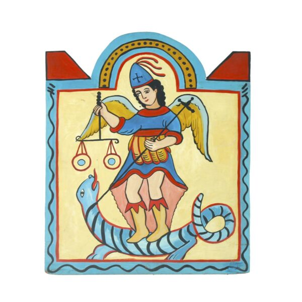 Cutout - Mexican Religious - Figure on Serpent