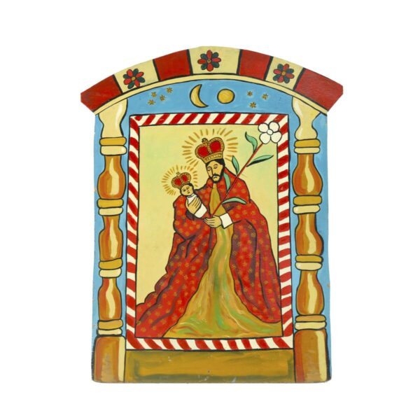 Cutout - Mexican Religious - Joseph with Baby