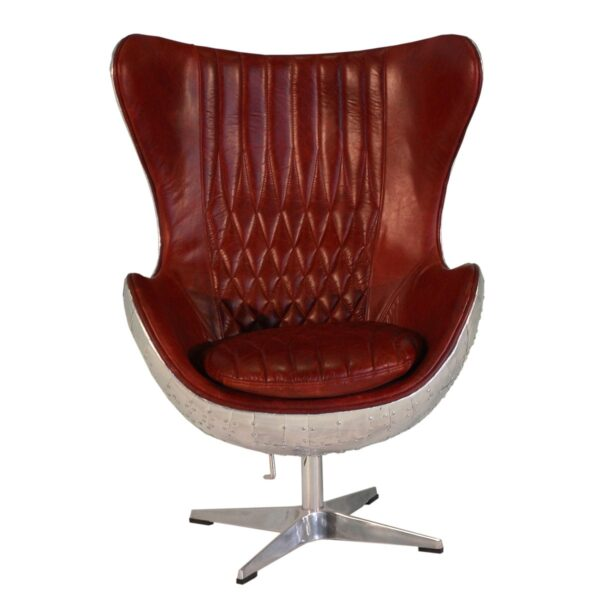 Retro Steel-Backed Egg Shaped Chair
