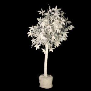 White Leafy Christmas Tree