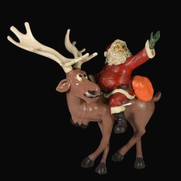 Santa Riding Reindeer