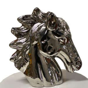 Chrome Horse Head Table Centrepiece