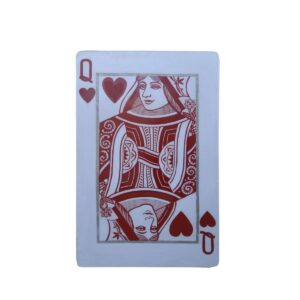 Cutout - Red Queen of Hearts Playing Card