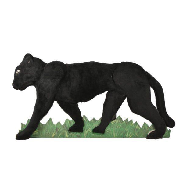Cutout - Panther with Fur Facing Left