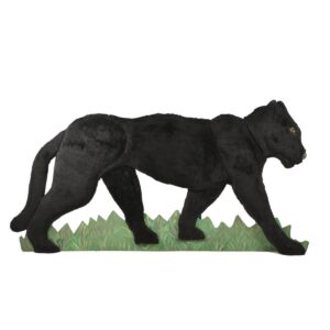 Cutout - Panther with Fur Facing Right