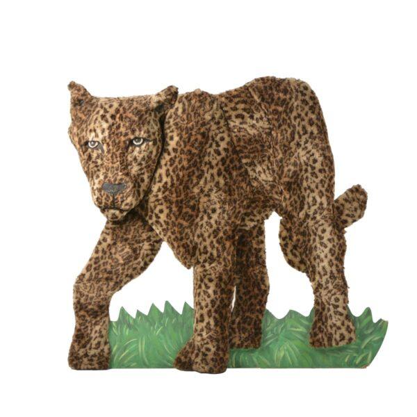 Cutout - Leopard with Fur Facing Left