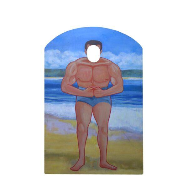 Cutout - Beach Muscle Man
