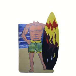 Cutout - Surfer in Green Shorts Photo Op.