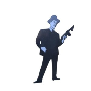 Cutout - Man with Tommy Gun