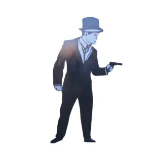 Cutout - Man with Hand Gun