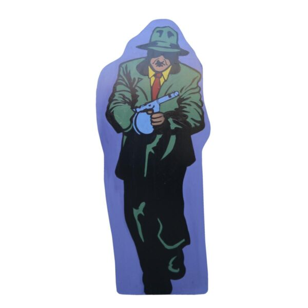 Cutout - Gangster in Green Suit with Machine Gun