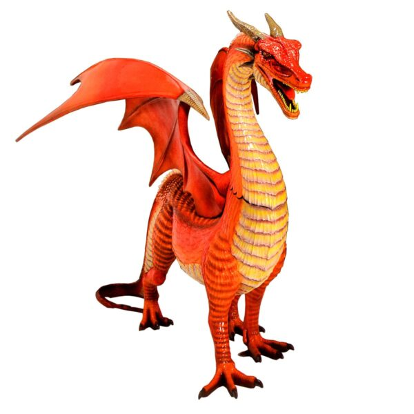 Large Mythical Dragon Statue