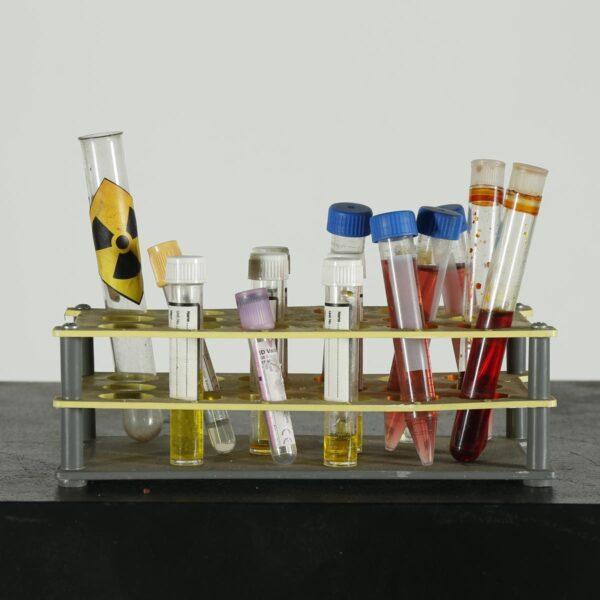 Medical - Assorted Test Tubes in Rack