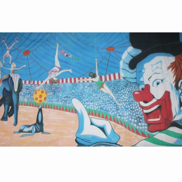 Circus Performers Under Big Top Painted Backdrop BD-0055