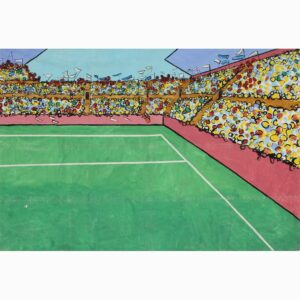 Stadium Crowd Scene Right Painted Backdrop BD-0323