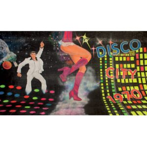 Disco City Painted Backdrop BD-1001-0