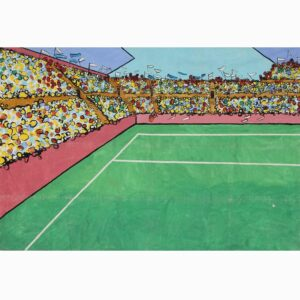Stadium Crowd Scene Left Painted Backdrop BD-0324