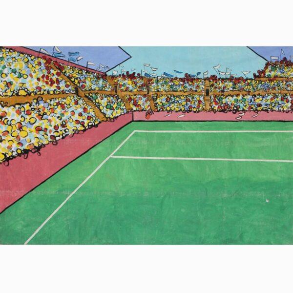 Stadium Crowd Scene Left Painted Backdrop BD-0324