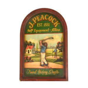Sport - Golf Framed Artwork, antique