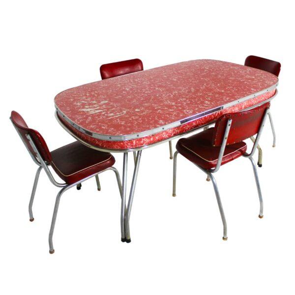 Red Mottled Kitchen Set