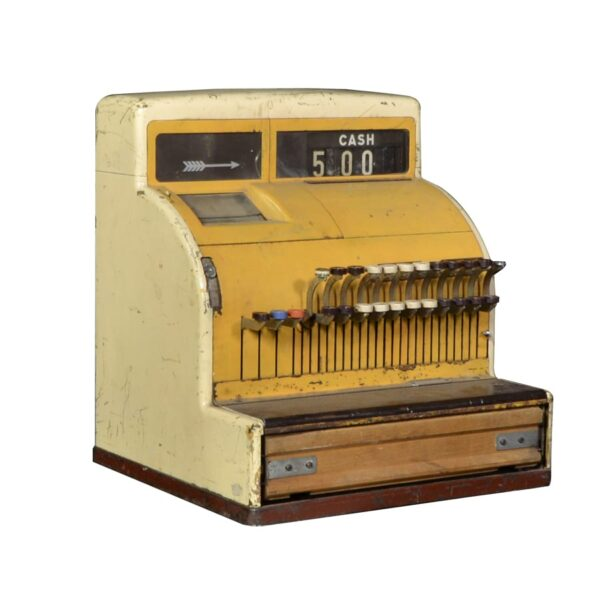 Cash Register, old style, yellow