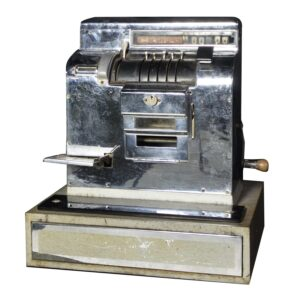 Cash Register, old style, chrome