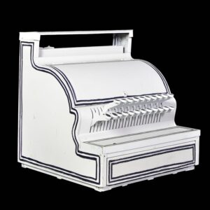 Cash Register, old style, white