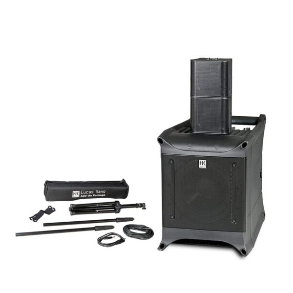 Audio PA Kit - Sub-woofer and 2 x satellite speakers and other accessories