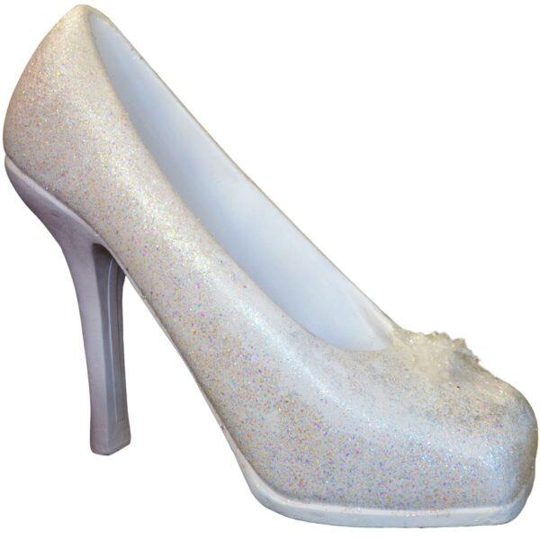 Giant Silver Cinderella Slipper
