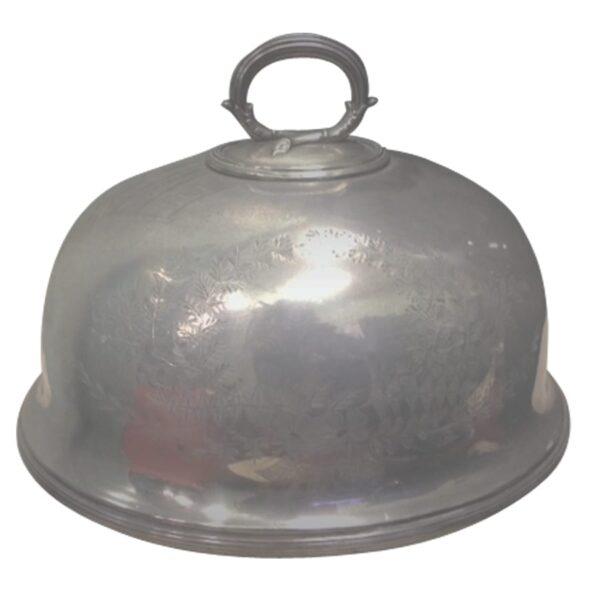 Silver Ornate Cloche