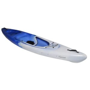 Kayak, blue and white