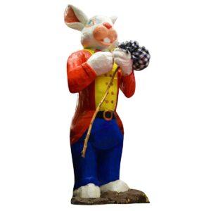 Bunny Boy Holding Swag