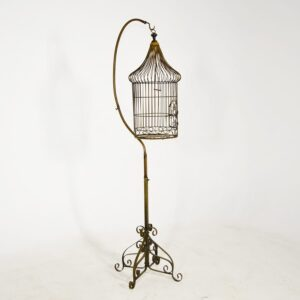Birdcage with Stand, antique metal