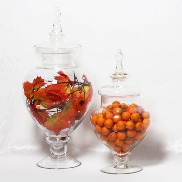 Lolly Jars, assorted sizes with fruit or foliage