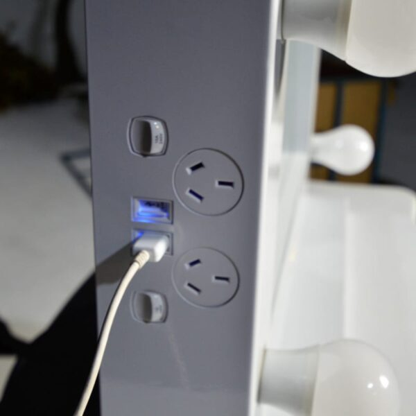 LED Dressing Room Makeup Mirror (usb ports) - Sydney Prop Specialists