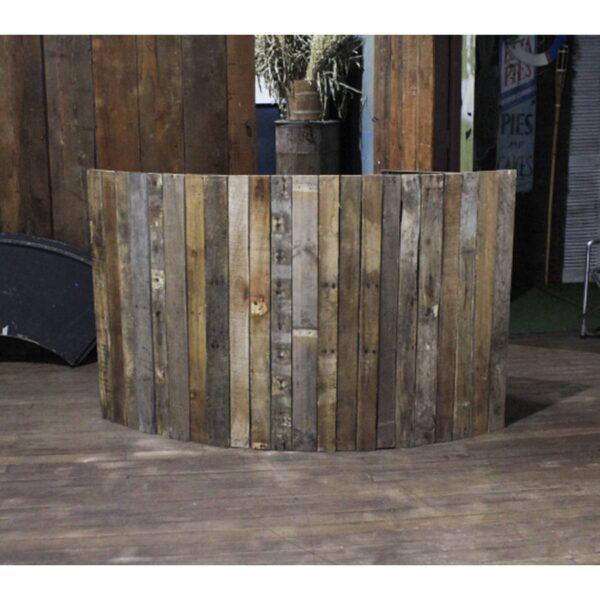 Wooden Curved Bar Section-0