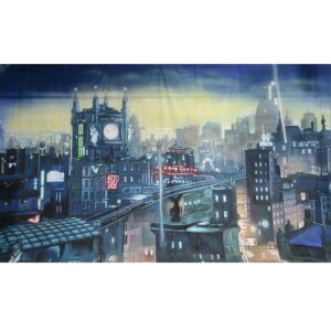 Gotham City Clock Tower Painted Backdrop BD-0842-0