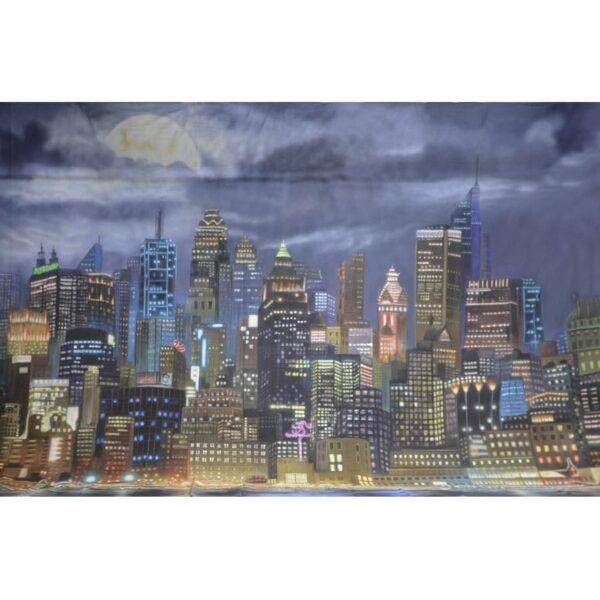 Gotham City Moonlit Painted Backdrop BD-0844-0