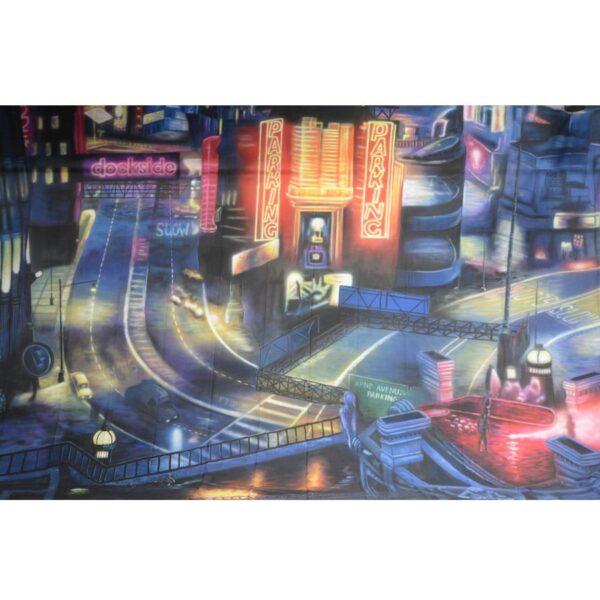 Gotham City Dockside Painted Backdrop BD-0841-0