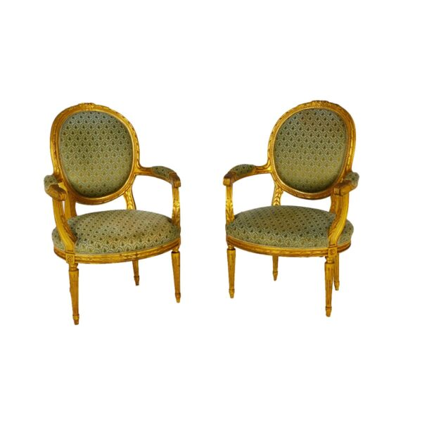 Ornate French Parlour Chair -0